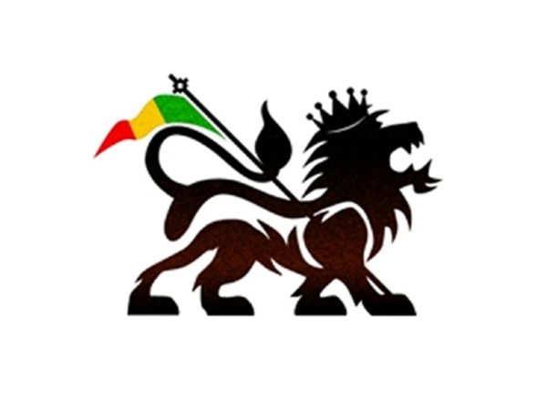 Lion of Judah Rasta Flag White T-Shirt Short Sleeves Black Green Yellow Red
