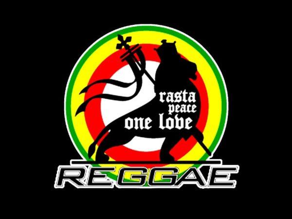 Rasta Peace One Love Reggae Black Tee-Shirt