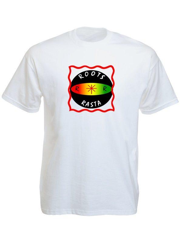 Roots Rasta White Tee-Shirt