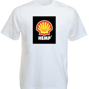 Hemp Shell Logo White Tee-Shirt