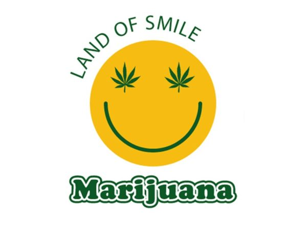 Land of Smile Marijuana White Tee-Shirt