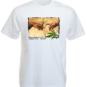 Michelangelo Painting The Creation Of Adam White Tee-Shirt