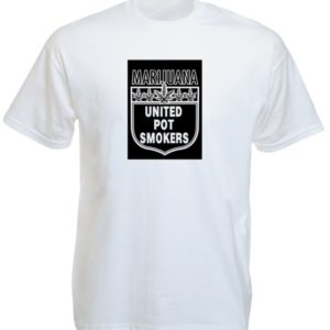 Marijuana United Pot Smokers White Tee-Shirt