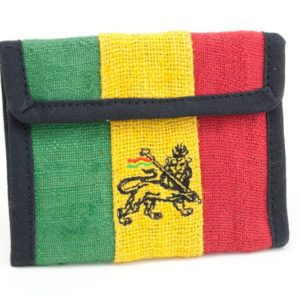 Wallet Hemp Lion Of Judah Velcro Zip