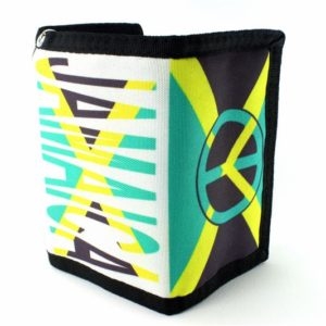 Chain Wallet Jamaica Flag Peace and Love Green Yellow Black