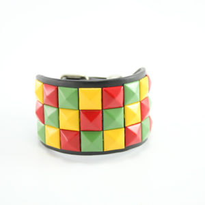 Wristband Rasta Colors Squares Decoration