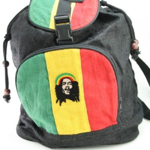 Backpack Hemp Organic Natural Fair Trade Rastaman Green Yellow Red Black