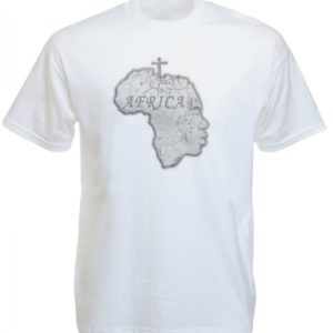 Africa Continent Human Head White Tee-Shirt