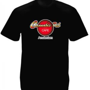 Amsterdam Cannabis Pub Cafe Black Tee-Shirt