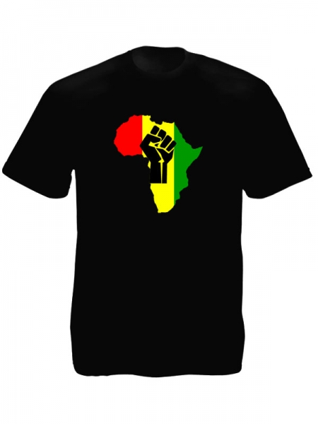 Black Power Fist Pan African Colors Black Tee-Shirt