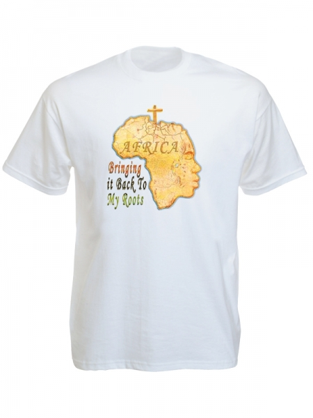 Roots Africa White Tee-Shirt
