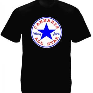 Converse Cannabis All Star Black Tee-Shirt
