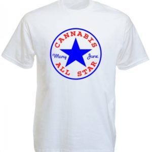 Converse Cannabis All Star White Tee-Shirt