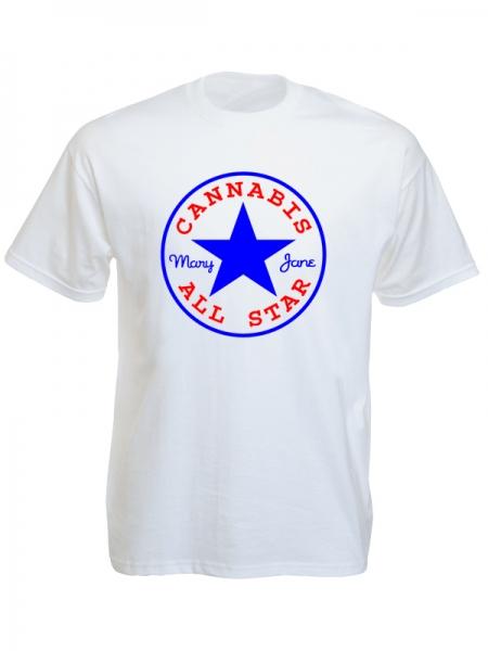 Converse Cannabis All Star White Tee-Shirt