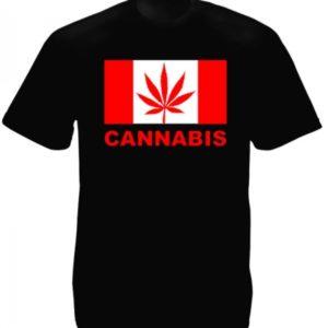Canada Cannabis Black Tee-Shirt