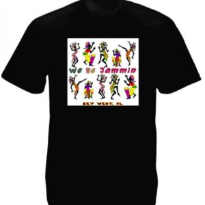 We Be Jammin Key West Florida Black Tee-Shirt