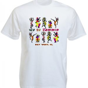 We Be Jammin Key West Florida White Tee-Shirt