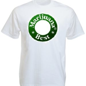 Tee-shirt Best Marijuana White