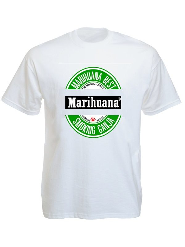 Best Marihuana White Tee-shirt